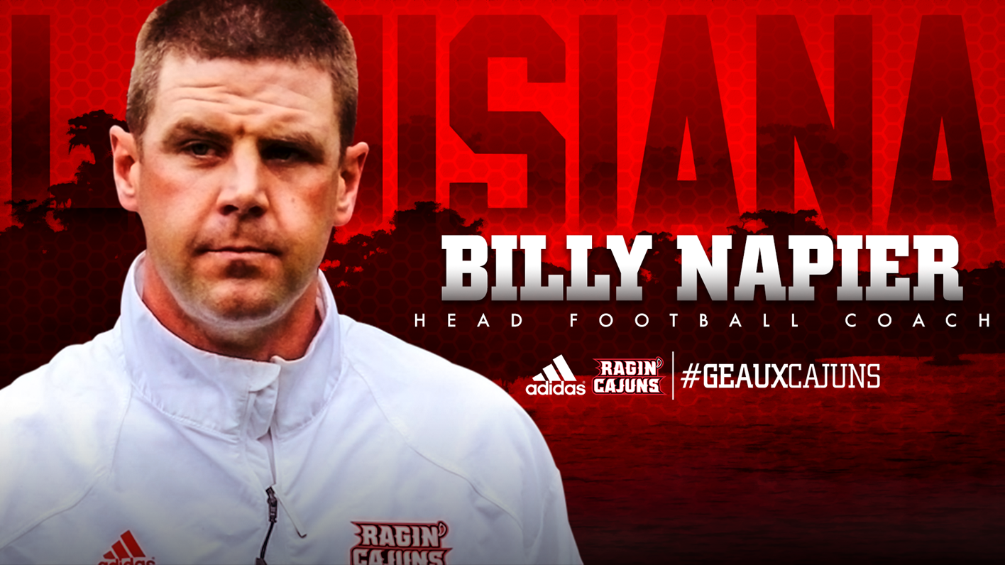 University of Louisiana Announces Billy Napier As Head Football Coach